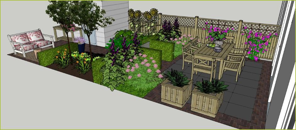 Tuin wales 4900 op maat incl ontwerp en aanleggen for Wat kost een tuinontwerp
